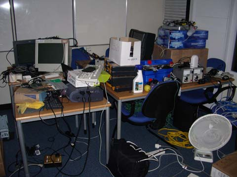 lab before cleaning