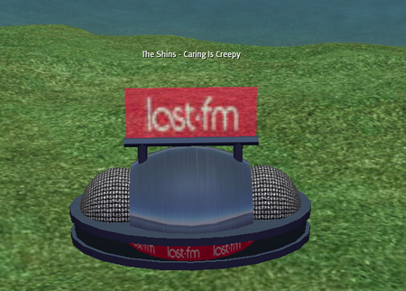 Roo\'s last.fm player on Second Life